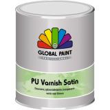 Global PU Varnish Satin | Duurzame,- oplosmiddelarme-, transparante vernis voor binnen