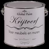 Global Paint Krijtverf - voor muren en meubelen, zeer mat met een authentieke uitstraling